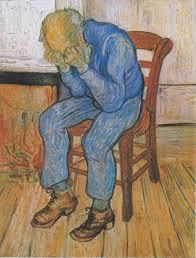 old man mourning: bereavement